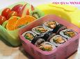 김밥에도 삼합이있다! 환상의궁합, 파채김밥도시락