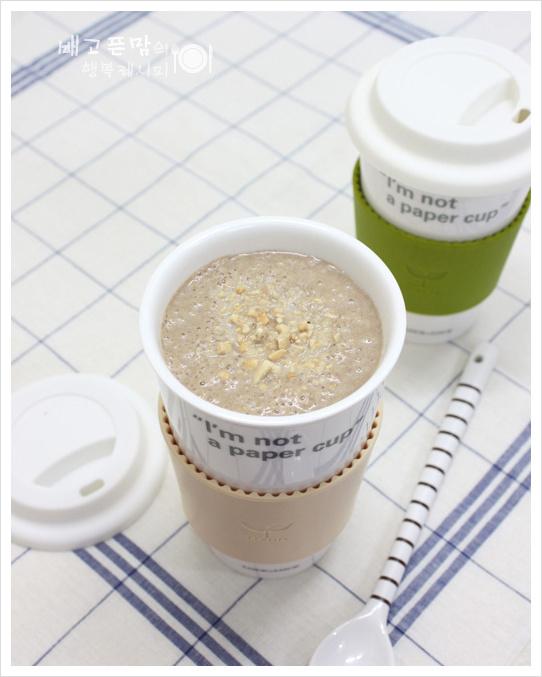 [고구마 땅콩 초코쉐이크] 바쁜아침 식사대용으로 좋아요~~